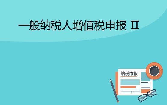 增值税申报表填报实务之一般纳税人 II