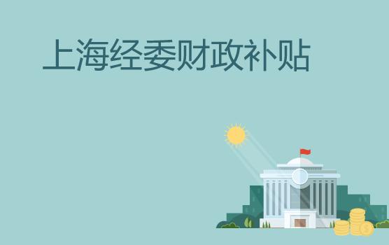 上海市经委重点财政补贴政策梳理