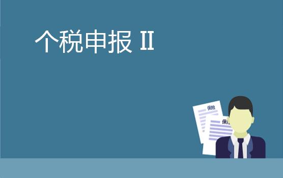 个人所得税申报实务及填报规则 II