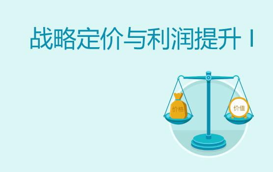 战略定价与利润提升之产品价值和价格结构