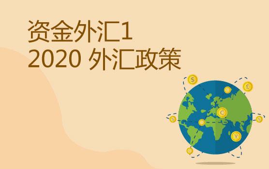资金外汇管理之2020年外汇最新政策须知