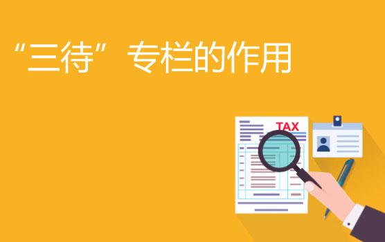 """【迷你课】增值税会计里的""""三待""""专栏的作用是什么"""